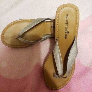 Montego Bay Club wedge flip flops size 7 1/2